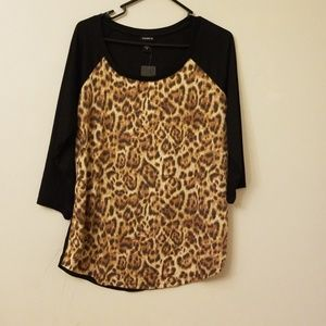 Torrid leopard print shirt